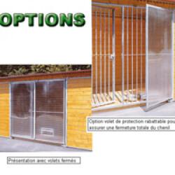 Volet de protection droit de porte en plexiglass