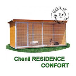 Chenil en bois résidence confort pour chien & chat de 2x2m avec 1 porte
