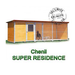 Chenil en bois super éleveur résidence pour chien & chat compartiment techn. seul soit 2x2m