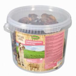 Chips de porc pour chien Seau 800 g