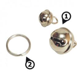 Clochette et anneau brisé pour chien et chat