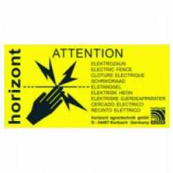 Plaque d'avertissement clôture électrique