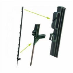 Piquet 1.10 m standard pour clôture électrique chien & chat H. utile 0.90 m