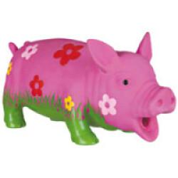 Cochon en latex avec motifs fleurs pour chiens Trixie