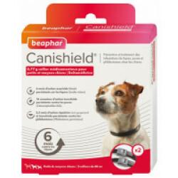 Collier Canishield à la deltaméthrine - Petit et Moyens chiens (2 colliers)