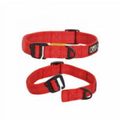 Collier Cross-Hook Kn'1 en nylon pour Sport canin Tubu rouge