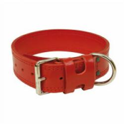 Collier cuir de travail large chien T1 Rouge
