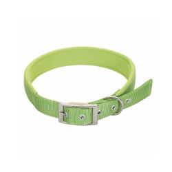 Collier droit vert en nylon pour chien Chapuis Sellerie