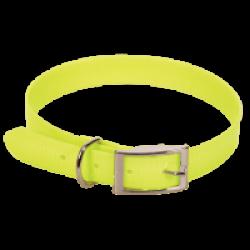 Collier fluo jaune en pvc pour chien Chapuis Sellerie