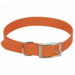 Collier fluo orange en pvc pour chien Chapuis Sellerie