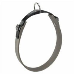 Collier gris pour chien à micro-régulation Ergoflex C Longueur 42 cm / Largeur 22 mm