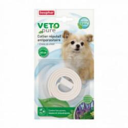 Collier insectifuge naturel blanc pour chien et chiot aux extraits de Margosa