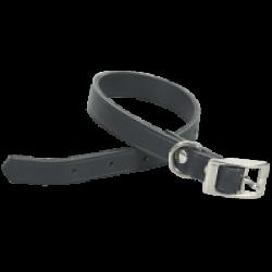 Collier noir en cuir pour chien Chapuis Sellerie