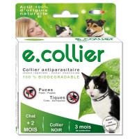 Collier noir pour chat Essential Spotis 35 cm
