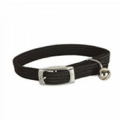 Collier nylon élastique noir pour chat