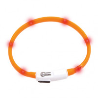 Collier orange Visio Light Led pour chats