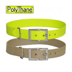 Collier polymère renforcé PolyThane pour chien T1 jaune
