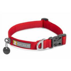 Collier pour chien en tissu doux Front Range™ rouge 28 - 36 cm