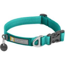 Collier pour chien en tissu doux Front Range™ Aurora Teal 28 - 36 cm