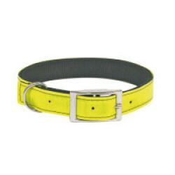 Collier rétro-réfléchissant pour chien - coloris jaune T45