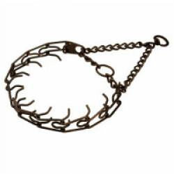 Collier semi étrangleur de force Zingué brun pour chien T55 ouverture 44 cm