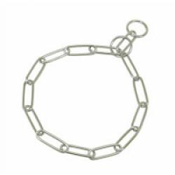 Collier étrangleur pour chien chaîne acier T46 ouverture 38 cm