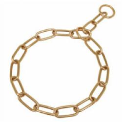 Collier étrangleur pour chien chaîne en curogan T72 ouverture 62 cm