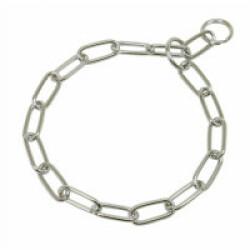 Collier étrangleur pour chien chaîne inox T61 ouverture 52 cm