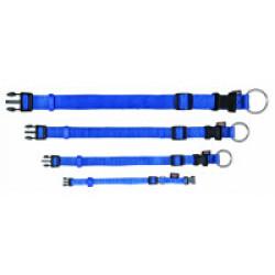 Collier Trixie Premium en nylon bleu Taille XS–S Largeur 10 mm Longueur 22/35 cm
