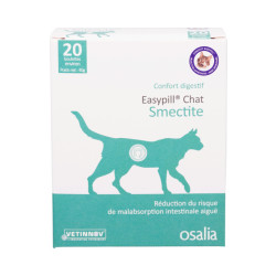 Complément alimentaire pour chat Easypill Smectite anti-diarrhée
