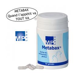 Complément alimentaire Metabax pour stimulation appétit du chien et chat