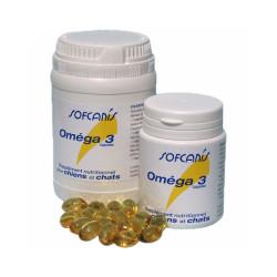 Aliment complémentaire chien et chat Sofcanis Omega 3 boîtes 120 comprimés