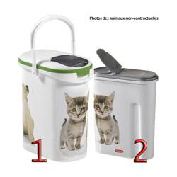 Container verseuse croquette décor chat Petlife - 10 L