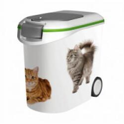 Conteneur à croquettes sur roues Curver pour chat Contenance 12 kg (35 Litres)