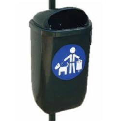Corbeille en polyethylène 50 litres - 40 x 78 x 27 cm