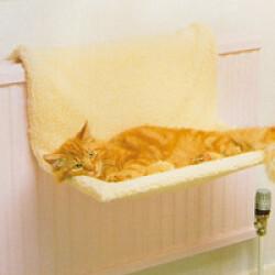 Couchage hamac pour chat frileux avec fixation sur radiateur