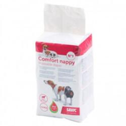 Couche jetable noire pour incontinence Comfort Nappy Savic pour chien