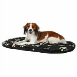 Coussin noir avec motifs Joey Trixie pour chiens