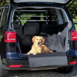 Couverture noire de protection pour coffre de voiture Friends on tour pour chiens