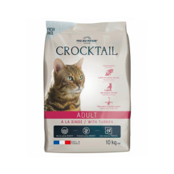 Croquettes à la dinde pour chat adulte Crocktail Flatazor Pro-Nutrition Sac 10 kg