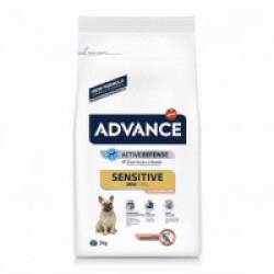 Croquettes Advance pour chiens Mini Sensitive Sac 3 kg