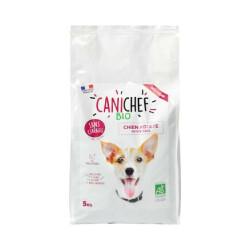 Croquettes Canichef Bio sans céréales pour chien de petite race - Sac de 5kg