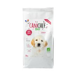 Croquettes Canichef Bio sans céréales pour chiot - Sac de 2kg