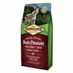 Croquettes Carnilove spéciales boules de poil pour chat Canard & Faisan Sac 6 kg