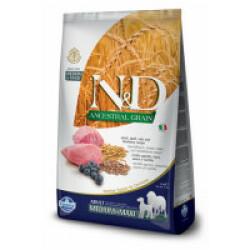 Croquettes Farmina N&D Ancestral Grain Maxi et Medium Agneau Myrtille pour chien Sac 12 kg