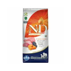 Croquettes Farmina N&D grain free maxi medium agneau myrtille et potiron pour chien Sac 12 kg