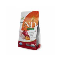 Croquettes Farmina N&D Grain Free Potiron Caille et Grenade pour chat stérilisé - Sac 1,5 kg