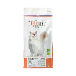 Croquettes Felichef Bio au poisson pour chat - Sac de 2kg