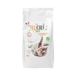 Croquettes Felichef Bio pour chat - Sac de 5kg