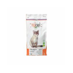 Croquettes Felichef Bio sans céréales pour chat - Sac de 2kg